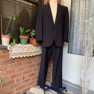Dimitri Vtge Men's Black Sz 44T-W42 100% wool suit